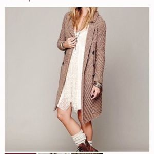 NWT Free People buttermilk biscuit cardigan